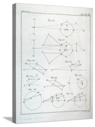 """Plate XX from Volume I of """"The Mathematical Principles of Natural Philosophy"""" by Sir Isaac Newton--Stretched Canvas Print"""