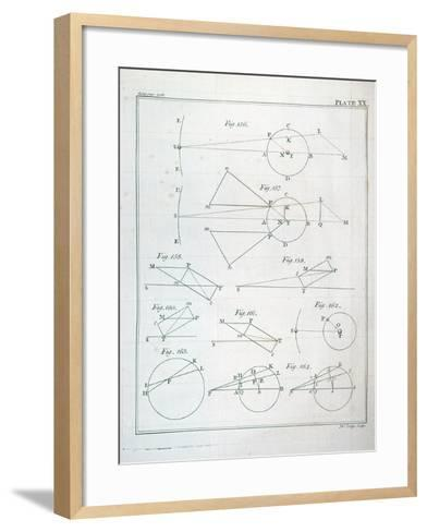 """Plate XX from Volume I of """"The Mathematical Principles of Natural Philosophy"""" by Sir Isaac Newton--Framed Art Print"""
