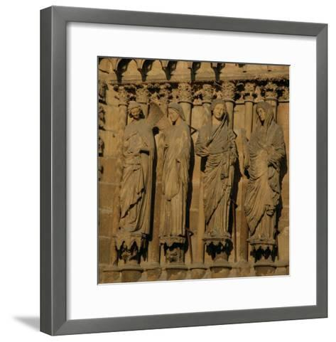 The Visitation, Four Jamb Figures from the West Facade of the Cathedral, circa 1230-40--Framed Art Print