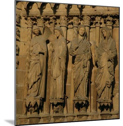 The Visitation, Four Jamb Figures from the West Facade of the Cathedral, circa 1230-40--Mounted Giclee Print