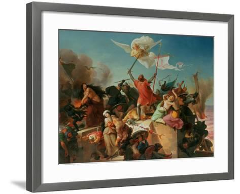 Godfrey De Bouillon, French Crusader-Karl Mucke-Framed Art Print