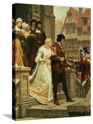 Call to Arms, 1888-Edmund Blair Leighton-Stretched Canvas Print