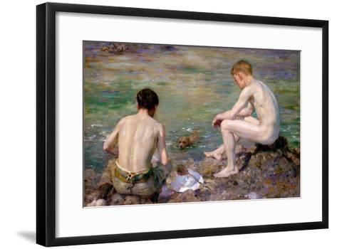Three Companions-Henry Scott Tuke-Framed Art Print