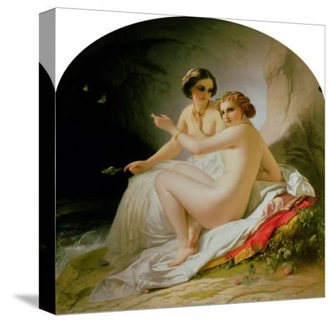 The Bathers, 1830-Louis Hersent-Stretched Canvas Print
