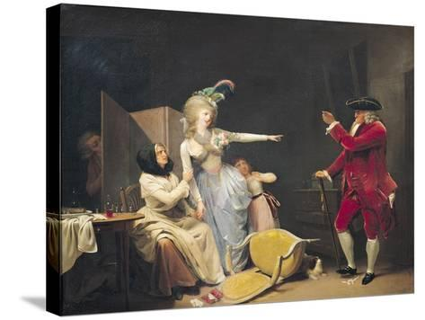 The Jealous Old Man, 1791-Louis Leopold Boilly-Stretched Canvas Print