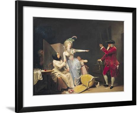 The Jealous Old Man, 1791-Louis Leopold Boilly-Framed Art Print