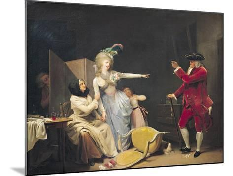The Jealous Old Man, 1791-Louis Leopold Boilly-Mounted Giclee Print