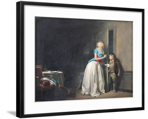 The Visit Received, 1789-Louis Leopold Boilly-Framed Art Print
