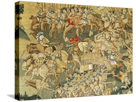 The Battle of Jarnac and the Assassination of Louis I of Bourbon (1530-69) 1570-80--Stretched Canvas Print