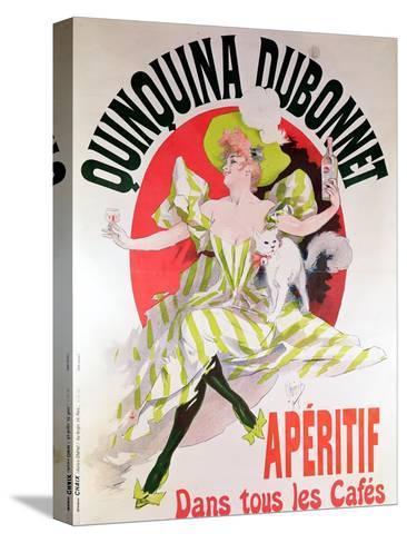 "Poster Advertising ""Quinquina Dubonnet"" Aperitif, 1895-Jules Ch?ret-Stretched Canvas Print"