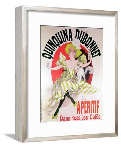 "Poster Advertising ""Quinquina Dubonnet"" Aperitif, 1895-Jules Ch?ret-Framed Art Print"