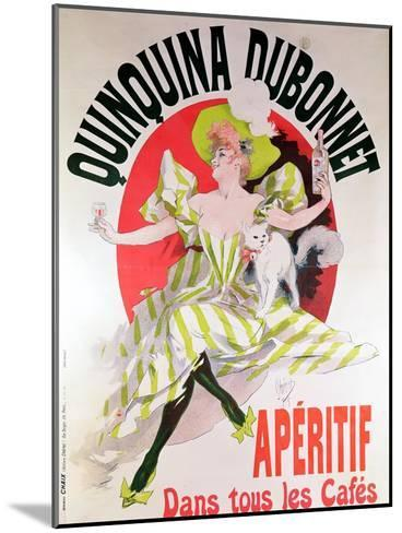 """Poster Advertising """"Quinquina Dubonnet"""" Aperitif, 1895-Jules Ch?ret-Mounted Giclee Print"""