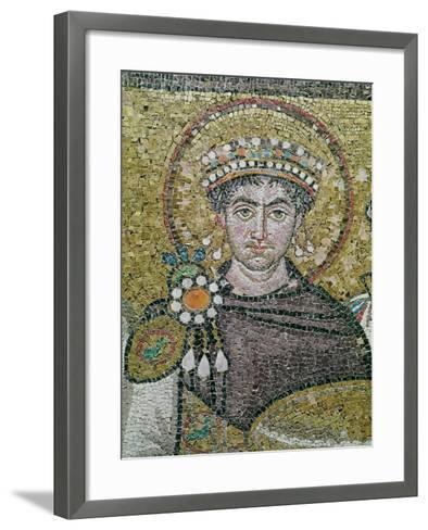 Emperor Justinian I (483-565) circa 547 AD--Framed Art Print