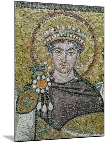 Emperor Justinian I (483-565) circa 547 AD--Mounted Giclee Print