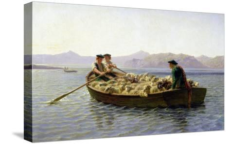 Rowing-Boat, 1863-Rosa Bonheur-Stretched Canvas Print