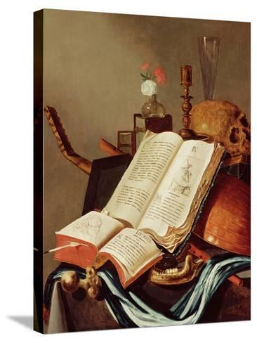 Vanitas Still Life-Edwaert Collier-Stretched Canvas Print