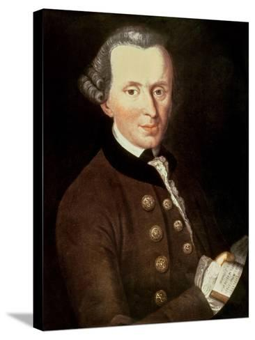 Portrait of Emmanuel Kant (1724-1804)--Stretched Canvas Print