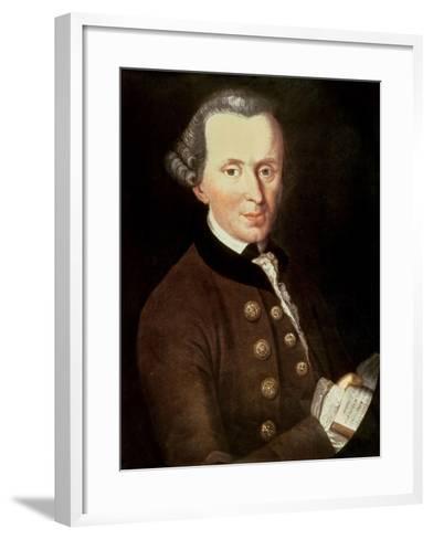 Portrait of Emmanuel Kant (1724-1804)--Framed Art Print
