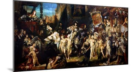 The Entrance of Emperor Charles V (1500-58) into Antwerp in 1520, 1878-Hans Makart-Mounted Giclee Print