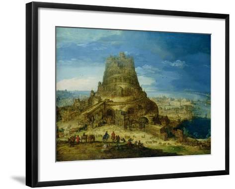 The Building of the Tower of Babel-Hendrick Van Cleve-Framed Art Print