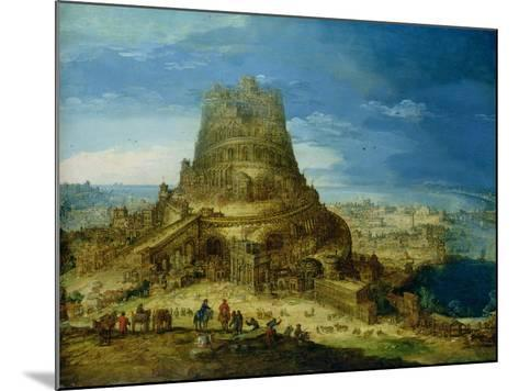 The Building of the Tower of Babel-Hendrick Van Cleve-Mounted Giclee Print