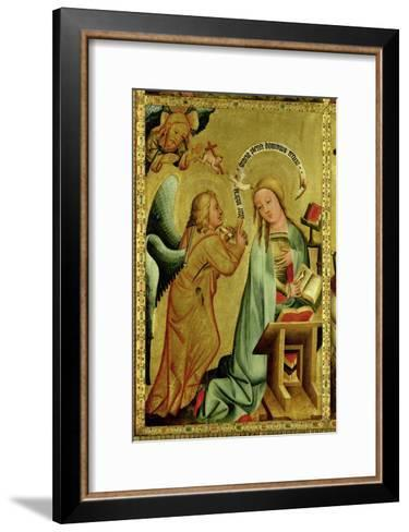 The Annunciation from the High Altar of St. Peter's in Hamburg, the Grabower Altar, 1383-Master Bertram of Minden-Framed Art Print