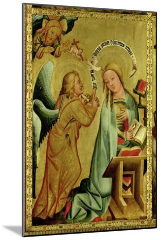 The Annunciation from the High Altar of St. Peter's in Hamburg, the Grabower Altar, 1383-Master Bertram of Minden-Mounted Giclee Print