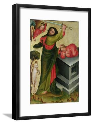 The Sacrifice of Isaac from the High Altar of St. Peter's in Hamburg, the Grabower Altar, 1383-Master Bertram of Minden-Framed Art Print