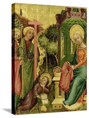 Visit of the Angel, from the Right Wing of the Buxtehude Altar, 1400-10-Master Bertram of Minden-Stretched Canvas Print