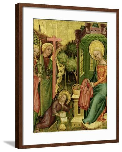 Visit of the Angel, from the Right Wing of the Buxtehude Altar, 1400-10-Master Bertram of Minden-Framed Art Print