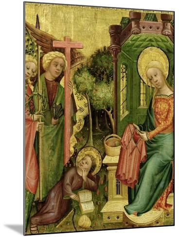 Visit of the Angel, from the Right Wing of the Buxtehude Altar, 1400-10-Master Bertram of Minden-Mounted Giclee Print