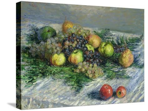 Still Life with Pears and Grapes, 1880-Claude Monet-Stretched Canvas Print