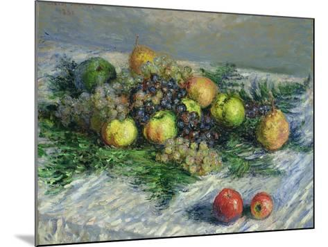 Still Life with Pears and Grapes, 1880-Claude Monet-Mounted Giclee Print