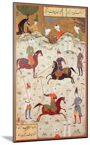 A Game of Polo--Mounted Giclee Print