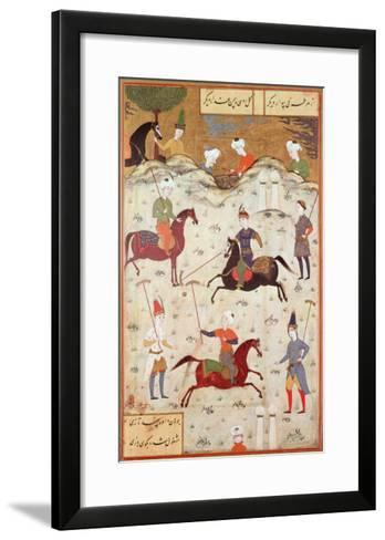 A Game of Polo--Framed Art Print