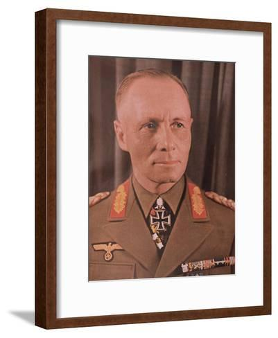 "Marshal Erwin Rommel (1894-1944) from ""Signal"" Magazine, No. 17, First Edition of September 1942--Framed Art Print"