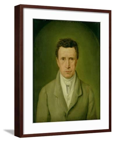 Portrait of Johann Friedrich Nikolaus Oldach (1773-1849) 1824-Julius Oldach-Framed Art Print