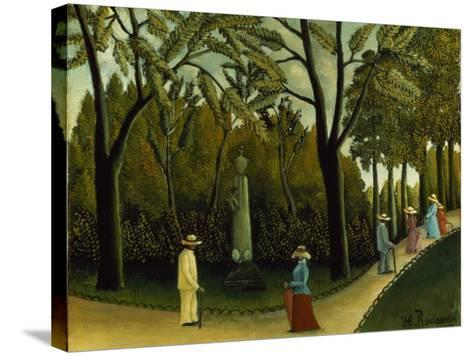 The Monument to Chopin in the Luxembourg Gardens, 1909-Henri Rousseau-Stretched Canvas Print
