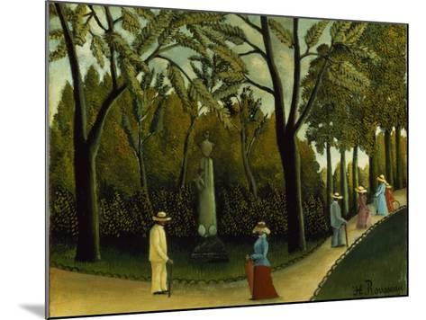 The Monument to Chopin in the Luxembourg Gardens, 1909-Henri Rousseau-Mounted Giclee Print