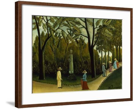 The Monument to Chopin in the Luxembourg Gardens, 1909-Henri Rousseau-Framed Art Print