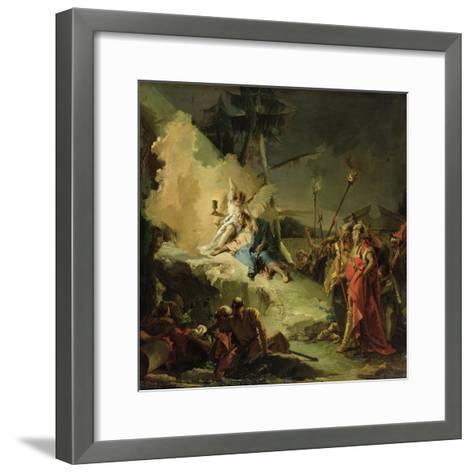 Christ in the Garden of Gethsemane-Giovanni Battista Tiepolo-Framed Art Print