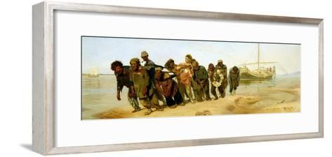 The Boatmen on the Volga, 1870-73-Ilya Efimovich Repin-Framed Art Print
