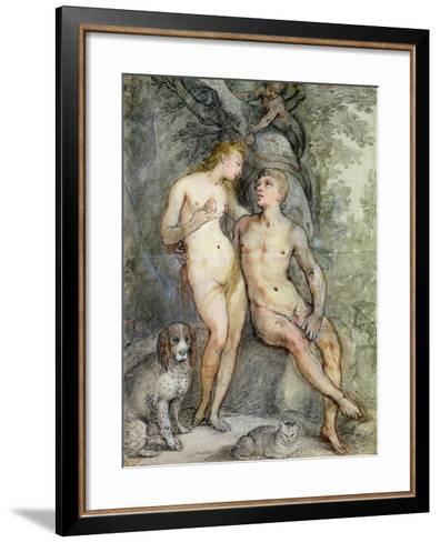Adam and Eve-Hendrik Goltzius-Framed Art Print