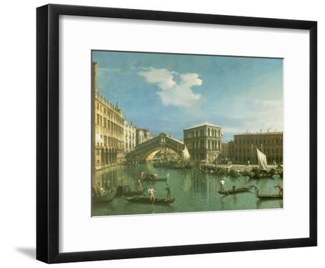 The Rialto Bridge, Venice-Canaletto-Framed Art Print