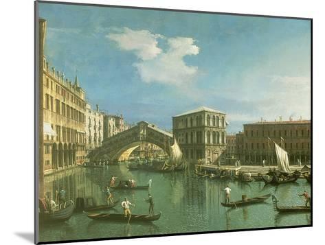 The Rialto Bridge, Venice-Canaletto-Mounted Giclee Print