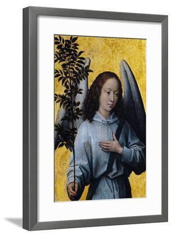 Angel Holding an Olive Branch-Hans Memling-Framed Art Print