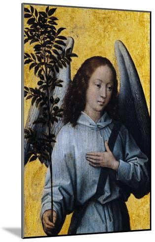 Angel Holding an Olive Branch-Hans Memling-Mounted Giclee Print