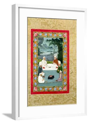 Mystical Conversation Between Sufic Sheikhs (Miniature)--Framed Art Print