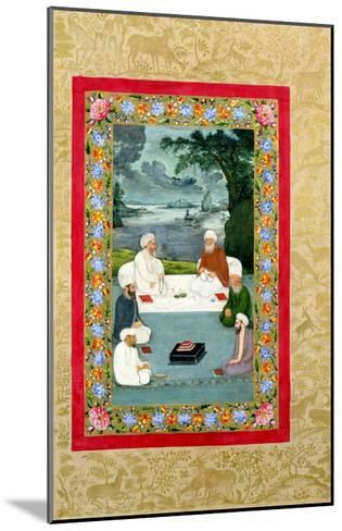 Mystical Conversation Between Sufic Sheikhs (Miniature)--Mounted Giclee Print