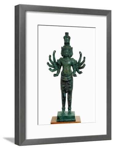 Shiva with Many Arms and Heads, Angkor--Framed Art Print
